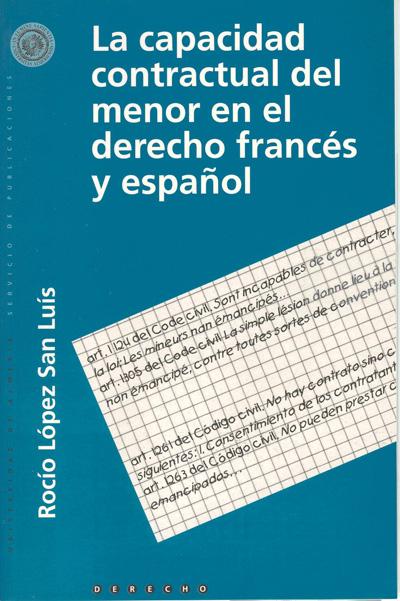 La capacidad contractual del menor en el derecho español y francés