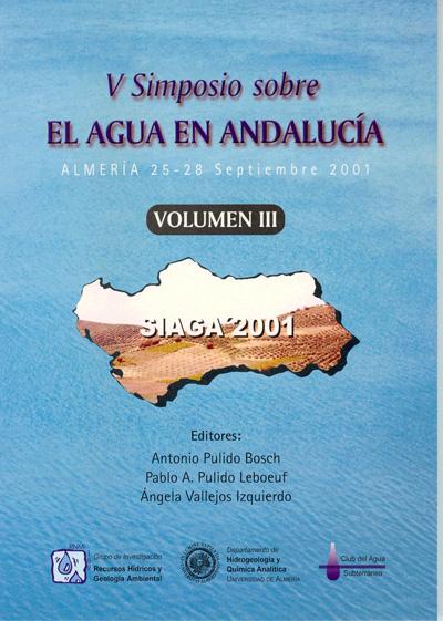 V Simposio sobre el agua en Andalucía (3 tomos)