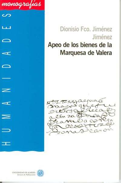 Apeo de los bienes de la Marquesa de Valera: aproximación al estudio de la deíxis espacial.