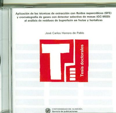 Aplicación de las técnicas de extracción con fluidos supercríticos (SFE) y cromatografía de gases con detector selectivo de mas