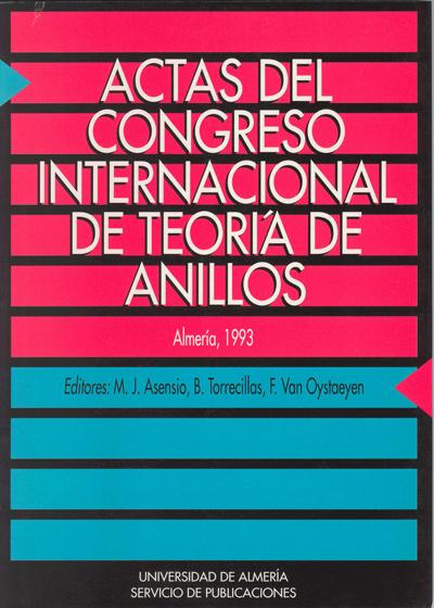 Actas del Congreso internacional de Teoría de Anillos