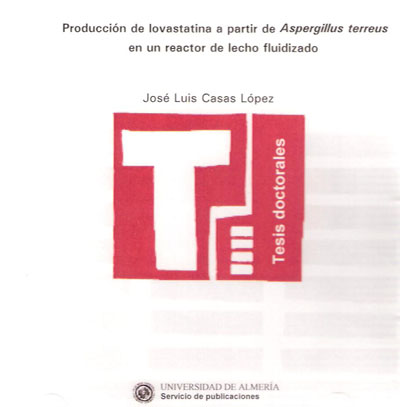 Producción de lovastatina a partir de Aspergillus terreus en un reactor de lecho fluidizado