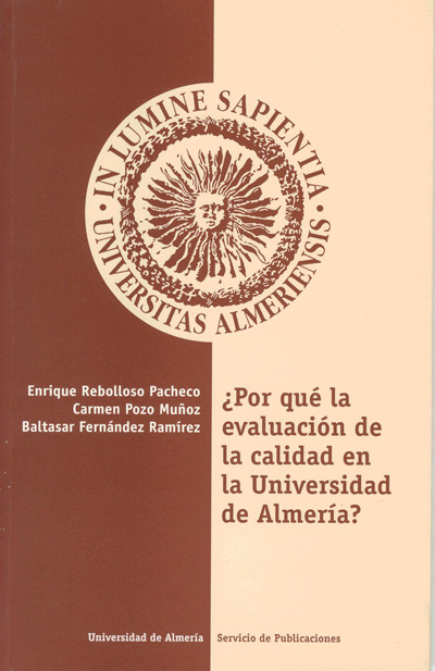 ¿Por qué la evaluación de la calidad en la Universidad de Almería?